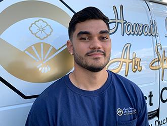 Hawaii Indoor Air Specialists lead technician Adam Connell